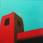 SOLD Acoma Bell Tower acrylic , 30x30