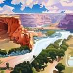 SOLD Canyon de Chelly Overlook, 36 x 48""