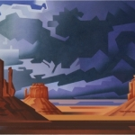 <b>SOLD</b>Departing Storm, 24x48""