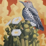 SOLD Gilded Flicker, oil, 20 x 16""