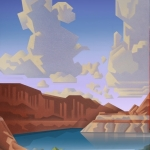 SOLD Lake Powell , 24x18 oil