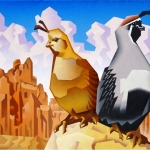 SOLD MR. & MRS. (Gambel's Quail), 16 x 20""
