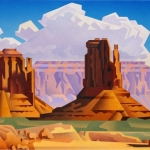 SOLD Spring Valley/Monument Valley, 18x24, oil