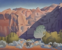 <b>SOLD</b Canyon Alcove, 24 x 30, Oil on canvas by David Jonason at a Scottsdale art gallery