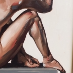 "SOLD Nude, oil, 20 x 16"", oil"