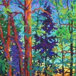 """Twilight Series-The Sigh of Evening, oil 16 x 36"""""""
