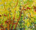 SOLD Balaams Wood- Spring Cherry Birches, 36 x 30, Oil on Canvas