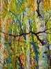 SOLD Gem: Stand of Birches II, oil on canvas by Frank Balaam at a Scottsdale art gallery