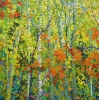 SOLDSanta Fe Canyon Preserve Through Aspens, 40 x 40, oil on canvas by Frank Balaam at a Scottsdale art gallery