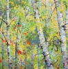 SOLD Spring Birches VI, oil on canvas, by Frank Balaam at a Scottsdale art gallery