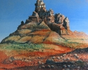 Blue Sky, Sedona oil on canvas by Mick Dean at a Scottsdale art gallery