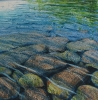 Cool Water, oil on canvas by Mick Dean at a Scottsdale art gallery