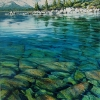 Tahoe First Day of Spring, oil on canvas by Mick Dean at a Scottsdale art gallery