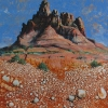 Sedona Memory, oil on canvas by Mick Dean at a Scottsdale art gallery