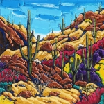 Deep Canyon Red 24 x 24 in 2014
