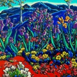 Homage to Van Gogh Irises in the Garden 24 x 30""