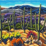 In the Desert Valley Summertime 30 x 40 oil