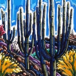 Saguaros by the Meadow, oil 36x24