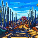 Trail Through the Organ Pipes 24 x 30