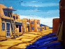 - SOLD - Acoma Pueblo Afternoon, oil on canvas by Neil Myers at a Scottsdale art gallery