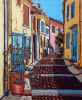 - SOLD - Alleyway in Arles, 20 x 24, oil on canvas by Neil Myers at a Scottsdale art gallery