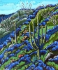<b>SOLD</bBlue Lupine Hillside, 24 x 20, Oil on Canvas by Neil Myers at a Scottsdale art gallery