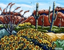 <b>SOLD</bBrittlebrush Dome, 8 x 10, Oil on Canvas by Neil Myers at a Scottsdale art gallery