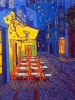 Cafe Van Gogh at Night, 30 x 24, oil on canvas by Neil Myers at a Scottsdale art gallery