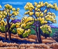 Cottonwood Trees New Mexico, 20 x 24, oil on canvas by Neil Myers at a Scottsdale art gallery