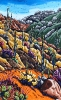 <b>SOLD</bMontrose Canyon Saguaros, 30 x 48, Oil on Canvas by Neil Myers at a Scottsdale art gallery