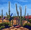 <b>SOLD</bArms to the Sky, 24 x 24, oil on canvas by Neil Myers at a Scottsdale art gallery