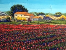 - SOLD - Poppy Field in Provence, 24 x 30, oil on canvas by Neil Myers at a Scottsdale art gallery