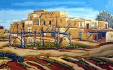 Spring at Taos, 30 x 48, oil on canvas by Neil Myers at a Scottsdale art gallery