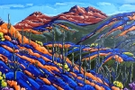 Spring Hillside Kings Crown Peak, 24 x 36, oil on canvas by Neil Myers at a Scottsdale art gallery