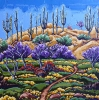 <b>SOLD</bSpring Hillside Sutherland Trail, 24 x 24, oil on canvas by Neil Myers at a Scottsdale art gallery