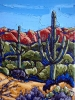 - SOLD - Two Saguaros Afternoon Sun, oil on canvas by Neil Myers at a Scottsdale art gallery