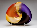 SOLDblackredgold-topazamethyst, blown glass at a Scottsdale art gallery
