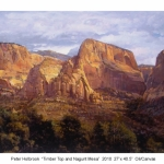 SOLD Timber Top and Nagunt Mesa , 27 x 40.5 oil