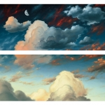 Day's Last Light, (diptych) 60 x 72 oil