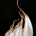 Copper Clove III, blown and sandblasted glass