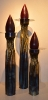Candleholders, copper, Thomas Markusen at a Scottsdale art gallery