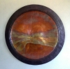 A River Runs Through, 36 inch wall plate, copper by Thomas Markusen at a Scottsdale art gallery