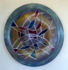 Radial Reflections, 36 inch wall plate by Thomas Markusen