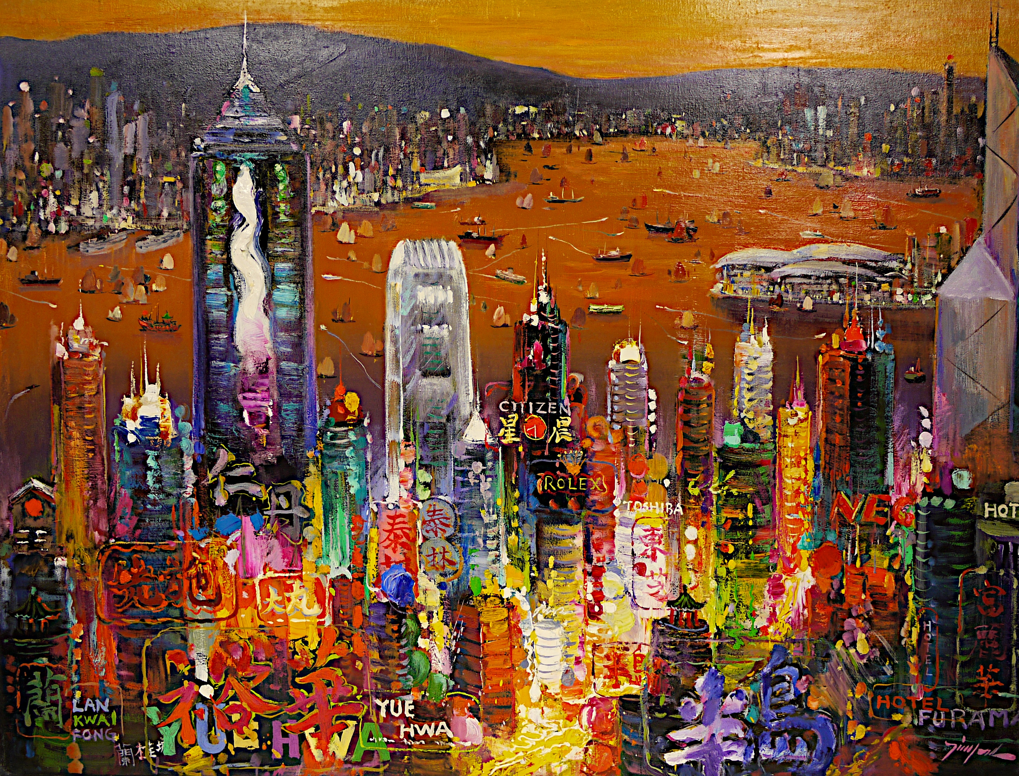 Tinyan chan oil paintings at a scottsdale art gallery on for Airbrushing mural