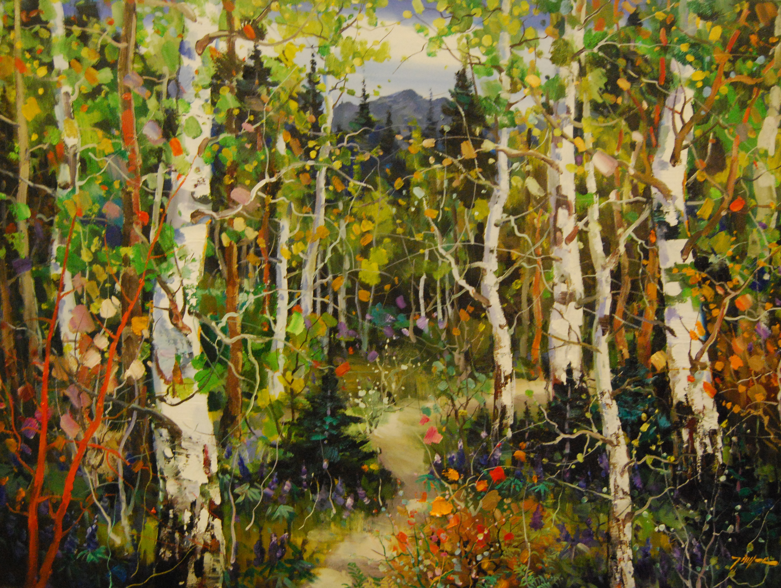 Serene Forest Painting Tinyan chan oil paintings at a scottsdale art ...Famous Forest Paintings