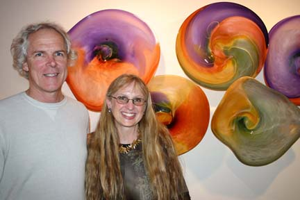 Rick and Janet Nicholson of Nicholson Blown Glass